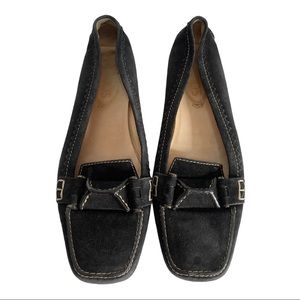 Tod's Black Suede Driving Loafers Size 39.5 (US 9)